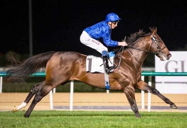 DUBAI: La velocidad de BLUE PONIT brilló en el Meydan Sprint (G2)